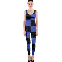 Square1 Black Marble & Blue Brushed Metal Onepiece Catsuit by trendistuff
