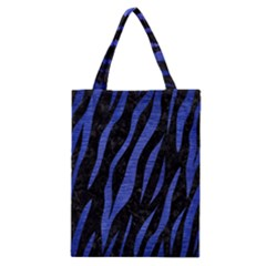Skin3 Black Marble & Blue Brushed Metal Classic Tote Bag by trendistuff
