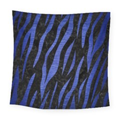 Skin3 Black Marble & Blue Brushed Metal Square Tapestry (large) by trendistuff