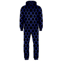 Scales1 Black Marble & Blue Brushed Metal Hooded Jumpsuit (men) by trendistuff