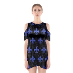 Royal1 Black Marble & Blue Brushed Metal (r) Shoulder Cutout One Piece