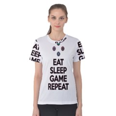 Eat Sleep Game Repeat Women s Cotton Tee
