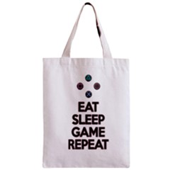 Eat Sleep Game Repeat Zipper Classic Tote Bag by Valentinaart