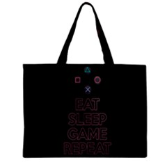Eat Sleep Game Repeat Zipper Mini Tote Bag by Valentinaart