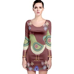 Easter Long Sleeve Bodycon Dress by Valentinaart