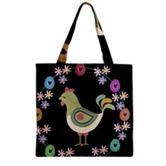 Easter Zipper Grocery Tote Bag by Valentinaart