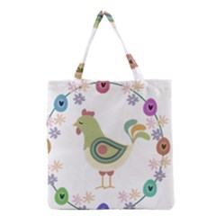 Easter Grocery Tote Bag by Valentinaart