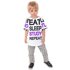 Eat Sleep Study Repeat Kids  Raglan Tee