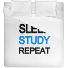 Eat Sleep Study Repeat Duvet Cover (king Size)