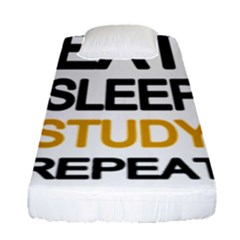 Eat Sleep Study Repeat Fitted Sheet (single Size)