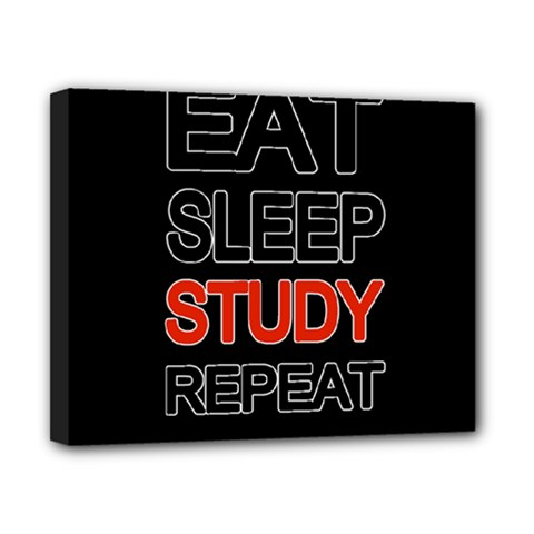 Eat Sleep Study Repeat Canvas 10  X 8  by Valentinaart