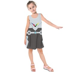 Rainbow Guardian Kids  Sleeveless Dress by NoctemClothing