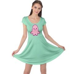Squid Princess Cap Sleeve Dress