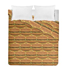 Delicious Burger Pattern Duvet Cover Double Side (full/ Double Size) by berwies