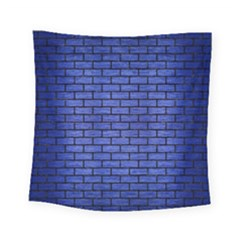 Brick1 Black Marble & Blue Brushed Metal (r) Square Tapestry (small) by trendistuff