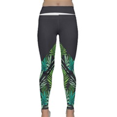 Urban Leaf Dark Grey Leggings by mememoimoi