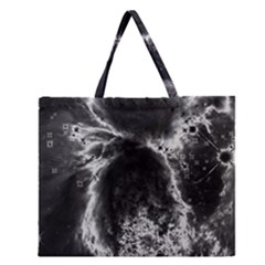 Space Zipper Large Tote Bag by Valentinaart
