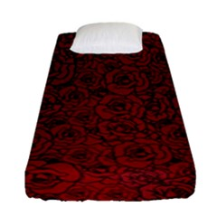 Red Roses Field Fitted Sheet (single Size) by designworld65