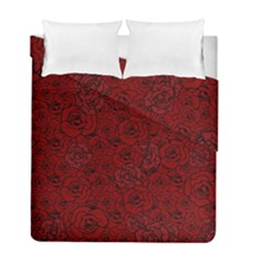 Red Roses Field Duvet Cover Double Side (full/ Double Size)