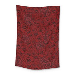 Red Roses Field Small Tapestry by designworld65