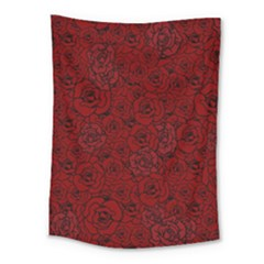 Red Roses Field Medium Tapestry by designworld65