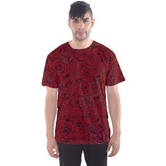 Red Roses Field Men s Sport Mesh Tee by designworld65