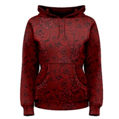 Red Roses Field Women s Pullover Hoodie by designworld65