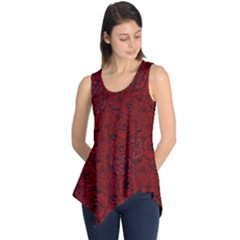Red Roses Field Sleeveless Tunic by designworld65