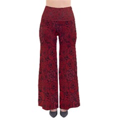 Red Roses Field Pants by designworld65