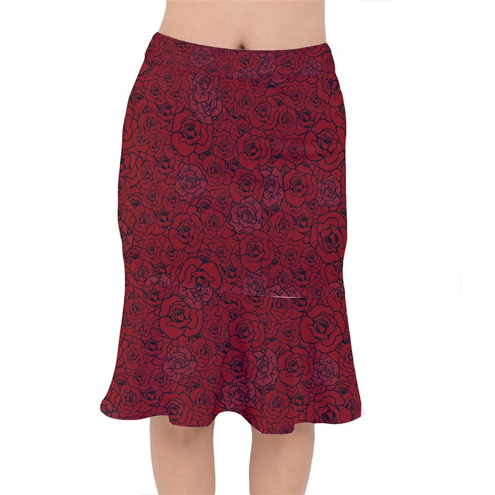 Red Roses Field Mermaid Skirt