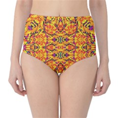 Colorful Vibrant Ornate High-waist Bikini Bottoms by dflcprintsclothing