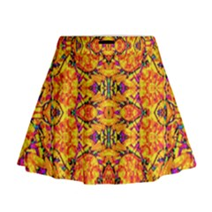 Colorful Vibrant Ornate Mini Flare Skirt by dflcprintsclothing