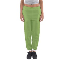 Trendy Basics   Trend Color Greenery Women s Jogger Sweatpants by tarastyle