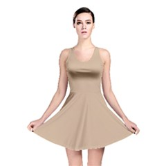 Trendy Basics   Trend Color Hazelnut Reversible Skater Dress by tarastyle