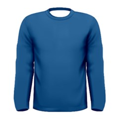 Trendy Basics   Trend Color Lapis Blue Men s Long Sleeve Tee by tarastyle