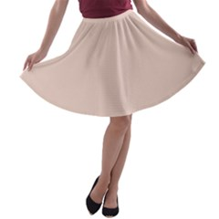 Trendy Basics   Trend Color Pale Dogwood A Line Skater Skirt by tarastyle