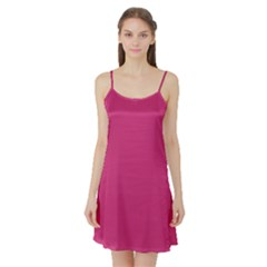 Trendy Basics   Trend Color Pink Yarrow Satin Night Slip by tarastyle