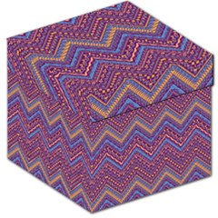 Colorful Ethnic Background With Zig Zag Pattern Design Storage Stool 12   by TastefulDesigns