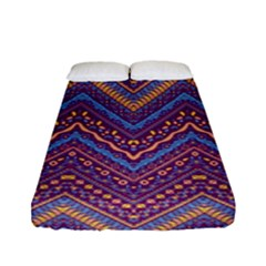 Colorful Ethnic Background With Zig Zag Pattern Design Fitted Sheet (full/ Double Size) by TastefulDesigns