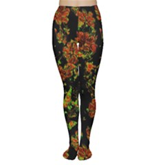 Floral Dreams 12 C Women s Tights by MoreColorsinLife