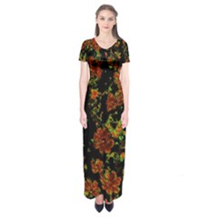 Floral Dreams 12 C Short Sleeve Maxi Dress by MoreColorsinLife