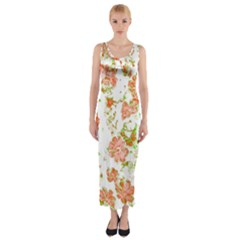 Floral Dreams 12 D Fitted Maxi Dress by MoreColorsinLife