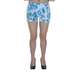 Floral Dreams 12 E Skinny Shorts by MoreColorsinLife