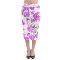 Floral Dreams 12 F Midi Pencil Skirt by MoreColorsinLife