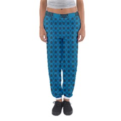 Lion Vs Gazelle Damask In Teal Women s Jogger Sweatpants