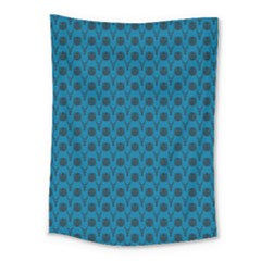 Lion Vs Gazelle Damask In Teal Medium Tapestry