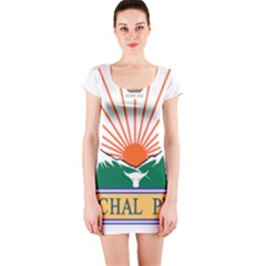 Seal Of Indian State Of Arunachal Pradesh  Short Sleeve Bodycon Dress by abbeyz71