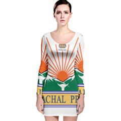 Seal Of Indian State Of Arunachal Pradesh  Long Sleeve Velvet Bodycon Dress by abbeyz71