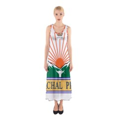 Indian State Of Arunachal Pradesh Seal Sleeveless Maxi Dress by abbeyz71