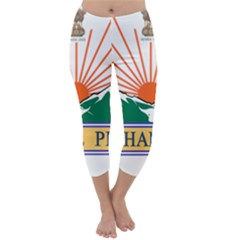Indian State Of Arunachal Pradesh Seal Capri Winter Leggings  by abbeyz71